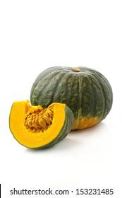 whole pumpkin and slice