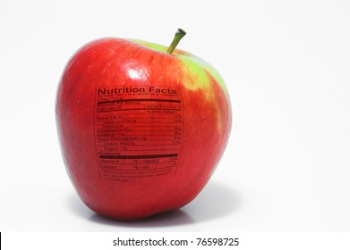 Apple Nutrition Facts Images Stock Photos Vectors Shutterstock