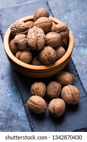 Whole walnut shells or kernels, healthy food ingredient