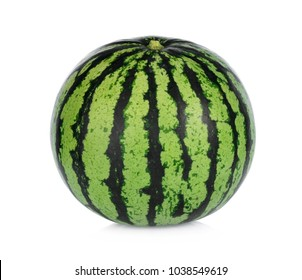 A whole of watermelon isolated on white background
