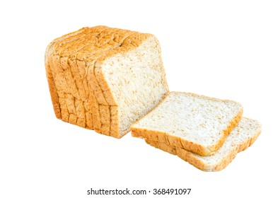 whole wheat bread isolate on white background