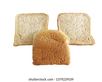 Whole wheat bread. isolated on white background.Whole wheat bread is a bread with a mixture of grains that are not abrasive or abrasive. With high nutritional value and full of fiber