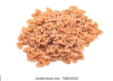 whole wheat farfale pasta background
