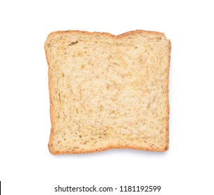 Whole Wheat Sliced Bread isolated on white background with clipping path