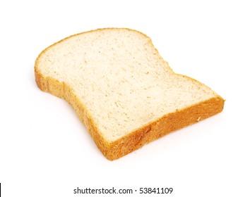 whole wheat toast isolated object