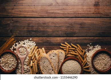 Wholegrain foods, with high fiber content