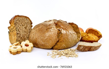 Wholemeal bread and cookies