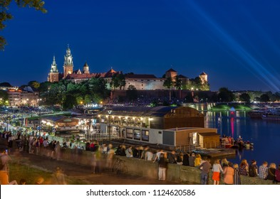 Wianki festival in Krakow, Poland