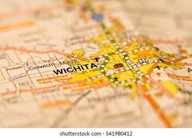 wichita kansas city area map