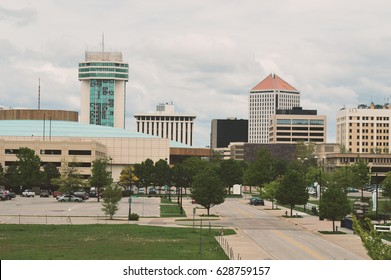 Wichita Kansas Skyline with Many Buildings