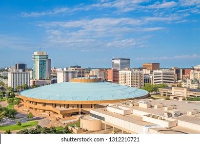 Wichita, Kansas, USA downtown skyline in the afternoon.