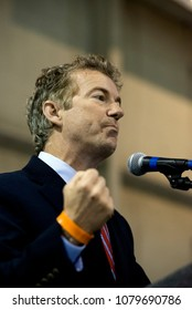 Wichita, Kansas, USA, October 28, 20Senator Rand Paul (R-KY) addresses a rally for Senator Pat Roberts (R-KS) who is running for re-election