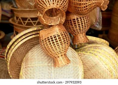 Wicker Bamboo baskets, fish trap