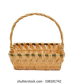 wicker basket with clipping path