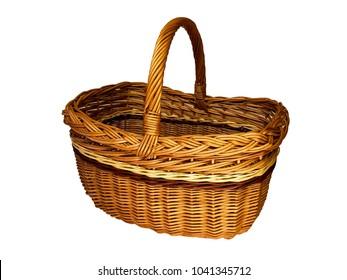Wicker basket made of twigs