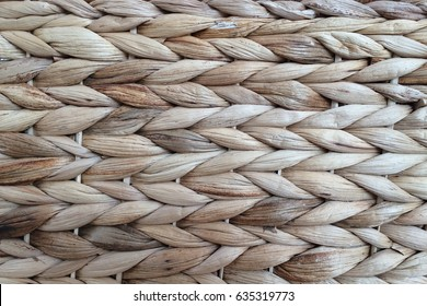 wicker basket pattern made from raffia strain, background and pattern art craft plaited design mat