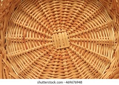 Wicker basket structure texture