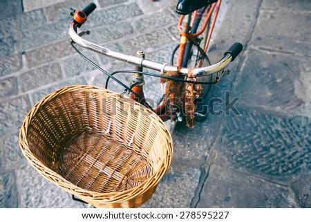 Vintage bike baskets think, that