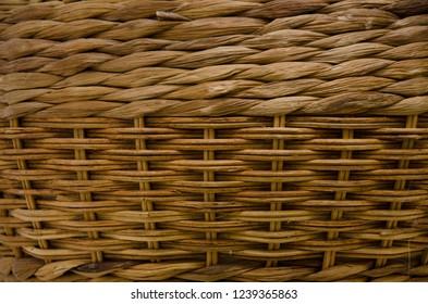 wicker brown basket texture background