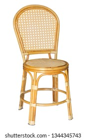 wicker chairs isolated on white with clipping path