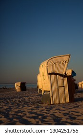 Wicker chairs at WHS beach, northern Germany