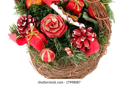 Wicker with  Christmas Decoration