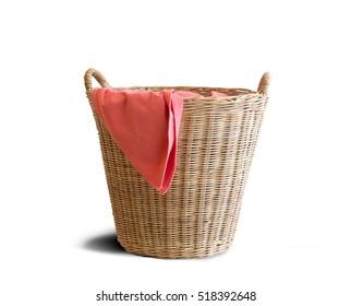 wicker clothes basket