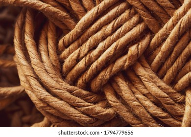 Wicker fibers macro. weaving close up. abstract braided background