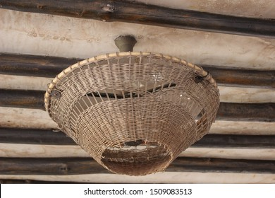 Wicker Light Shade Timber Beam