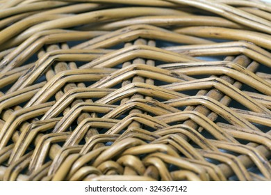wicker plate from a rod, detail, background, texture, close-up