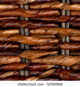 wicker or rattan basket texture.High-resolution seamless texture
