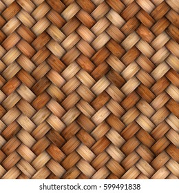 Wicker rattan seamless texture for CG