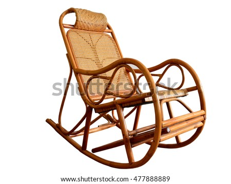Wicker Rocking Chair Made Rattan Stock Photo Edit Now 477888889
