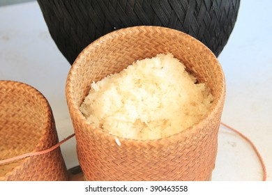 Wicker of  sticky rice box