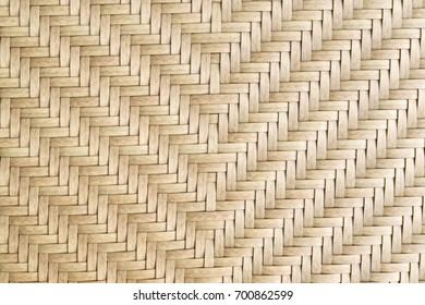 Wicker texture has made from banana leaves and rattan. Texture of rattan basket background