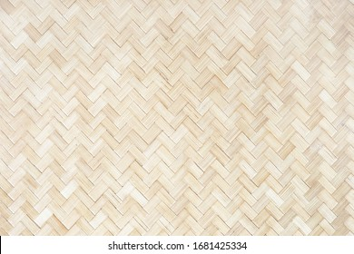 Wicker Thailand light wall. Mat background, bamboo natural texture