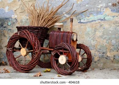 wicker tractor