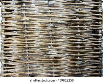 Wicker wood texture. Basket weaving