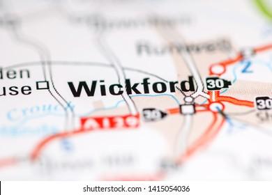 Wickford. United Kingdom on a geography map