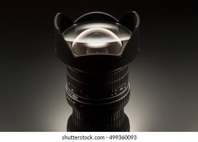 Wide angle lens 14mm studio shot