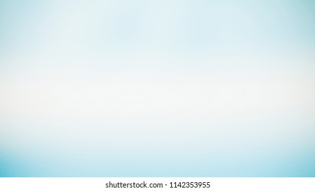 Wide Angle Light Blue background. Blue and white gradient Texture for Design. Beautiful Abstract panoramic Wallpaper or Web Banner for Website With Copy Space.