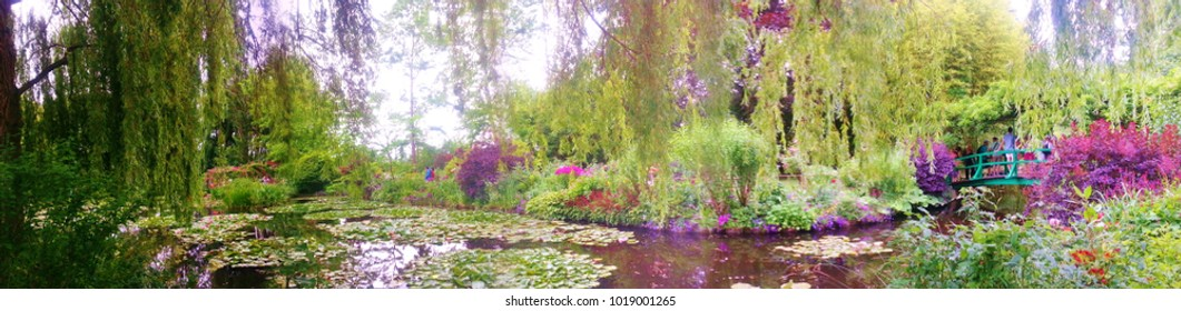 Wide Angle of Monet's Garden