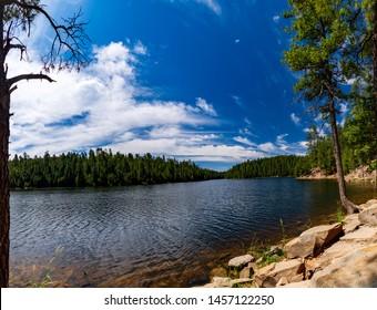 Wide angle shot at Bear Canyon Lake, Mogollon Rim near Payson Arizona