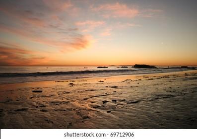 Wide Angle shot of beautiful sunset