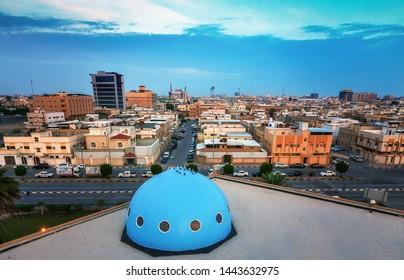 Wide Angle view of Dammam Street -Dammam Saudi Arabia.