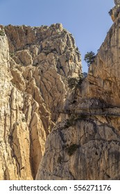 Wide angle view of 'El Caminito del Rey' (King's Little Path)