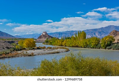 wide angle view of holy Stakna Monastery, In Ladakh, India