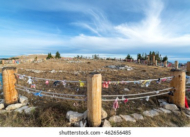 Wide angle view of Medicine Wheel National Historic Landmark in Wyoming