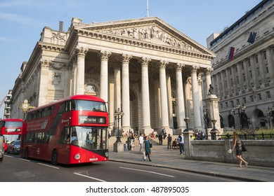 Wide Angle view over Royal Stock Exchange Building in London - LONDON / ENGLAND - SEPTEMBER 14, 2016