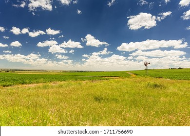 Wide angle view of Small scale farm in the Highveld region of South Africa